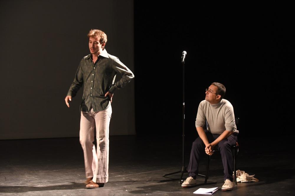 PORTRAIT FOUCAULT Pierre Maillet et Maurin Olles Comédie de Caen/théâtre d'Hérouville 12 10 2015 ©Tristan Jeanne-Valès